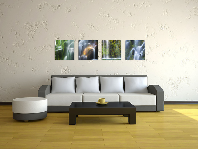 """""""Nature, squared"""" is a collection of intimate views of the many facets of nature.  Perfect for small spaces or grouped together to create a visually stimulating montage, each print measures 10""""x10"""" and is printed on your choice of canvas, metal, or Lumachromic acrylic face mount, ready to hang. <br /> Package includes the 4 photos shown above."""