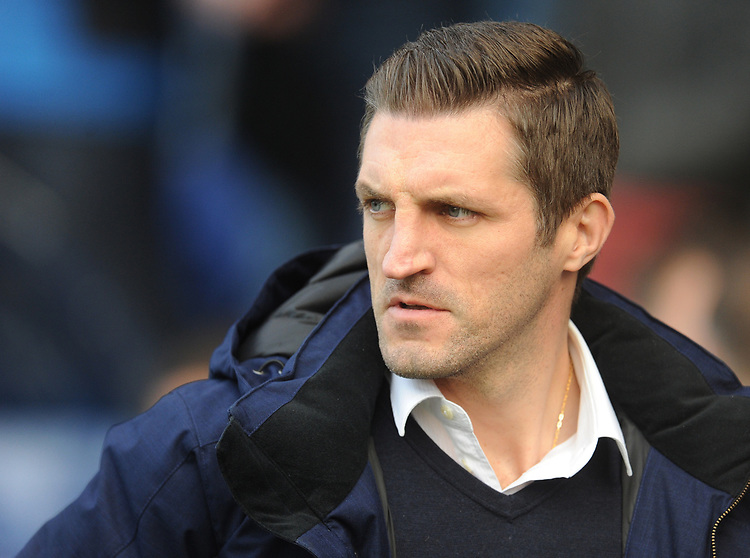 Shrewsbury Town manager Sam Ricketts<br /> <br /> Photographer Kevin Barnes/CameraSport<br /> <br /> The EFL Sky Bet League One - Shrewsbury Town v Fleetwood Town - Tuesday 1st January 2019 - New Meadow - Shrewsbury<br /> <br /> World Copyright © 2019 CameraSport. All rights reserved. 43 Linden Ave. Countesthorpe. Leicester. England. LE8 5PG - Tel: +44 (0) 116 277 4147 - admin@camerasport.com - www.camerasport.com