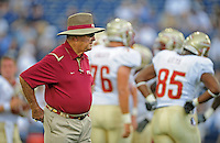 Sept. 19, 2009; Provo, UT, USA; Florida State Seminoles head coach Bobby Bowden against the BYU Cougars at LaVell Edwards Stadium. Florida State defeated BYU 54-28. Mandatory Credit: Mark J. Rebilas-