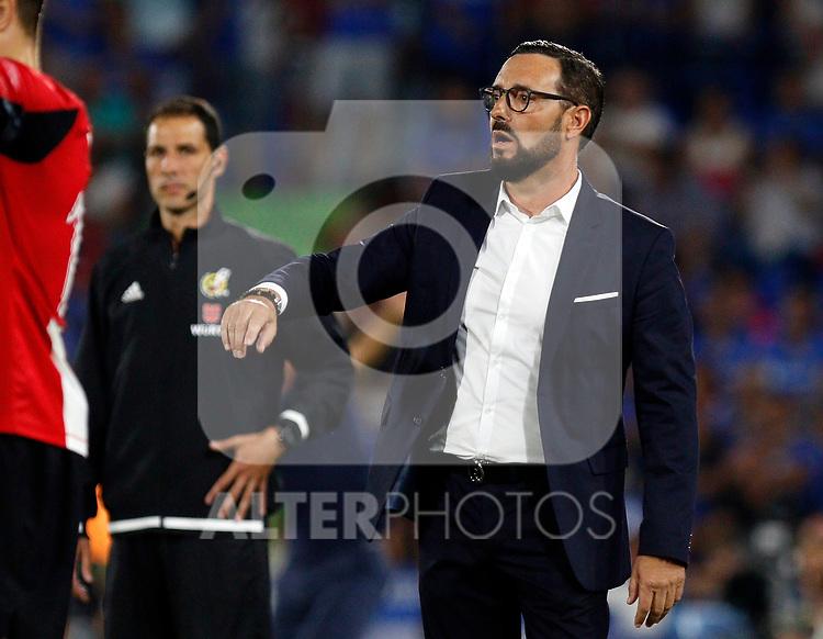 Getafe CF's coach Jose Bordalas during La Liga match. Aug 24, 2019. (ALTERPHOTOS/Manu R.B.)