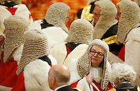 18 May 2016 - London England - Members of the Law Lords, Britain's senior judiciary take their seats as they wait for Britain's Queen Elizabeth II to read the Queen's Speech during the State Opening of Parliament in the House of Lords in London. The State Opening of Parliament marks the formal start of the parliamentary year and the Queen's Speech sets out the government's agenda for the coming session. Photo Credit: ALPR/AdMedia