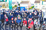 All the bikers at the start of the charity motorbike run in Doyles garage Sunday morning    Copyright Kerry's Eye 2008