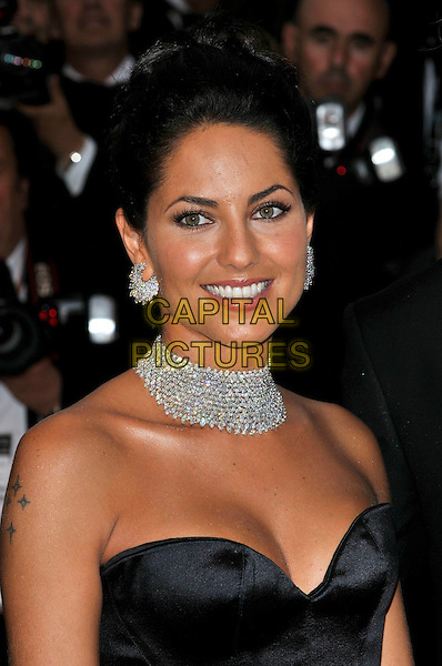 "BARBARA MORI.Uruguayan actress .""Bright Star"" screening.62nd International Cannes Film Festival.Cannes, France. 15th May 2009.portrait headshot  strapless black bustier necklace cleavage diamond earrings choker .CAP/PL.©Phil Loftus/Capital Pictures"