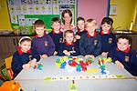 Nine new Juniors started school in Cillín Liath NS on Monday pictured here with their teacher Caroline Ní Dálaigh were l-r; Siún Ní Churráin, Gearid Ó Dalaigh, Daithí Ó Sé, Mary Kate Ní Shuilleabháin, Nathan Ó Laoire, Mike Ó Suilleabháin, Ciara Ní Chonchúir, as láthair Jack Ó Sé.