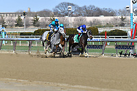 OZONE PARK, NY - APRIL 07: My Miss Lilly (KY) #6, ridden by jockey Joe Bravo, wins the Gazelle Stakes, wins the Gazelle Stakeson Wood Memorial Stakes Day at Aqueduct Race Track on April 7, 2018 in Ozone Park, New York. (Photo by Dan Heary/Eclipse Sportswire/Getty Images)