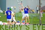 John Griffin Lixnaw in action against Daniel Collins Kilmoyley in the County Senior Hurling Final at Austin Stack Park Tralee on Sunday.