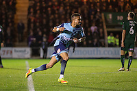 Paris Cowan-Hall of Wycombe Wanderers celebrates his side's third goal during the Sky Bet League 2 match between Plymouth Argyle and Wycombe Wanderers at Home Park, Plymouth, England on 26 December 2016. Photo by Mark  Hawkins / PRiME Media Images.