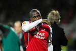 Nederland, Alkmaar, 29 maart 2012.Europa League.Seizoen 2011-2012.AZ-Valencia (2-1).Jozy Altidore van AZ na zijn wissel