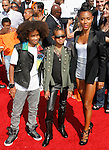 Jaden Smith,Willow Smith and Jada Pinkett-Smith arrives at the 2010 BET Awards at the Shrine Auditorium in Los Angeles, California on June 27,2010                                                                               © 2010 Hollywood Press Agency