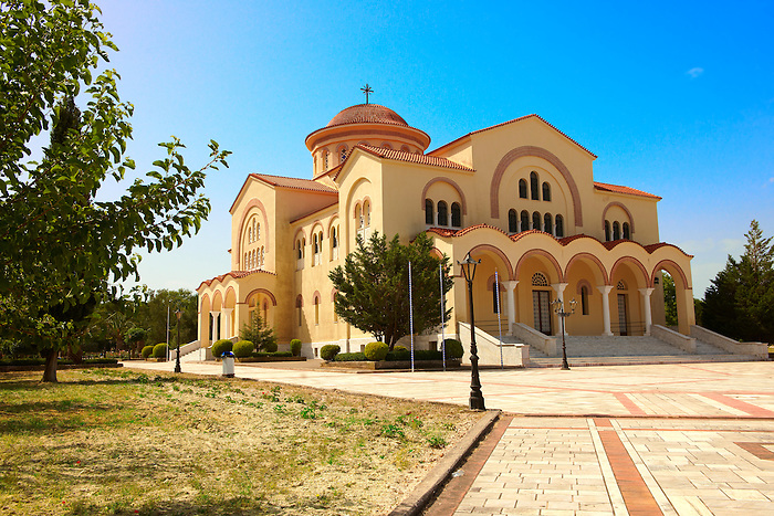 New Orthodox church of Omala. Kefalonia, Ionian Islands, Greece.