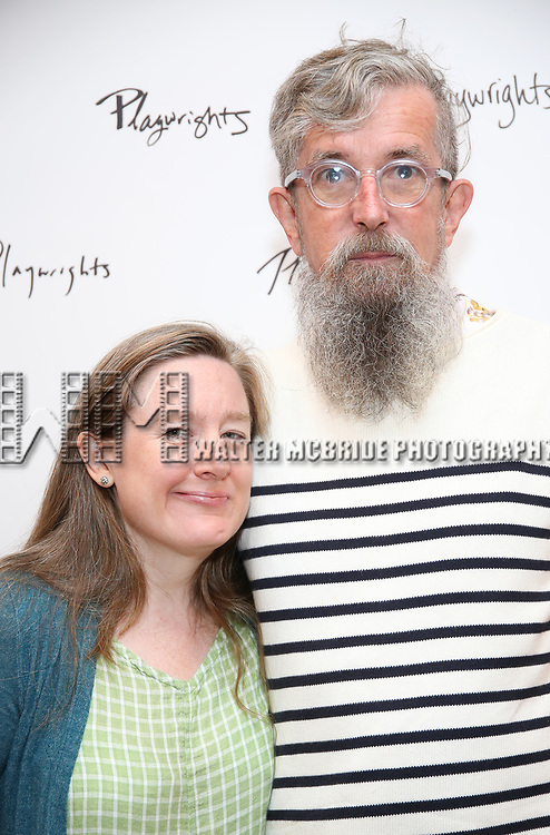 Sarah Ruhl and Les Waters attends the meet & Greet for Playwrights Horizons New York Premiere pf 'For Peter Pan on her 70th Birthday' on July 25, 2017 at the Playwrights Horizons Studios at  in New York City.
