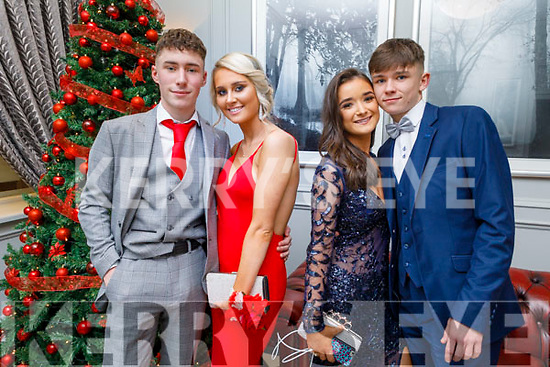Cian Carney, Sally Lenihan,  Chloe Sugrue and Jordan Mason attending the CBS the Green Debs in the Ballyroe Heights Hotel on Monday night.
