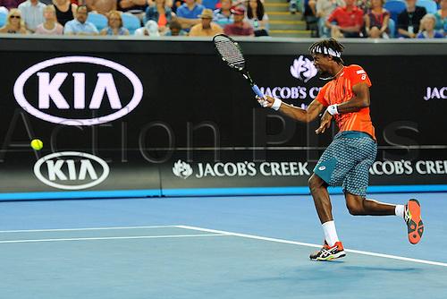22.01.2016. Melbourne Park, Melbourne, Australia, Australian Open Tennis Championships.  Gael Monfils (FRA)
