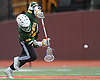Michael Giaquinto #24 of Ward Melville pounces on a loose ball after taking a faceoff in a non-league varsity boys lacrosse game against host Chaminade High School on Saturday, April 7, 2018. Ward Melville won by a score of 11-7.