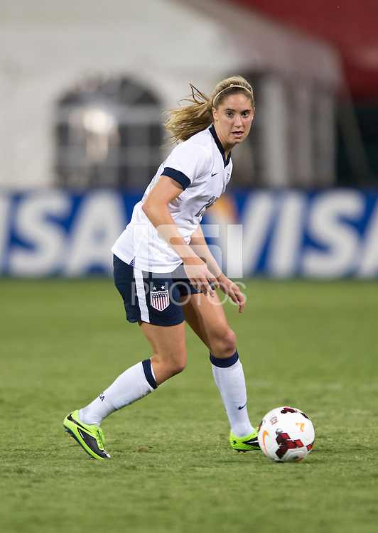 Morgan Brian. The USWNT defeated Mexico, 7-0, during an international friendly at RFK Stadium in Washington, DC.  The USWNT defeated Mexico, 7-0.