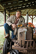 Hough Webster on his family farm South of Yancyville, NC.