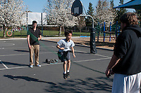 The Harker School - LS - Lower School - The LS campus participates in its Annual Jump Rope for Heart activity in an effort to raise awareness and research into heart-related illnesses...2012-03-09...Photo by Kyle Cavallaro