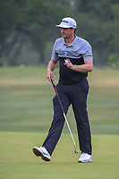 Keegan Bradley (USA) after sinking his putt on 1 during Round 3 of the Valero Texas Open, AT&amp;T Oaks Course, TPC San Antonio, San Antonio, Texas, USA. 4/21/2018.<br /> Picture: Golffile   Ken Murray<br /> <br /> <br /> All photo usage must carry mandatory copyright credit (&copy; Golffile   Ken Murray)