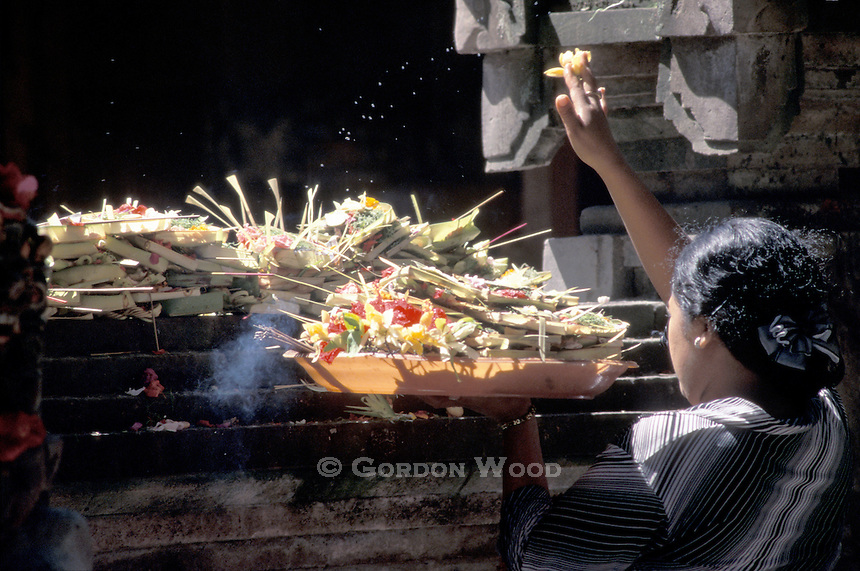 A Woman's Offerings to the Gods - Bali, Indonesia