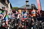 The jersey leaders line up for the start of Stage 3 of the Route d'Occitanie 2019, running 173km from Arreau to Luchon-Hospice de France, France. 22nd June 2019<br /> Picture: Colin Flockton | Cyclefile<br /> All photos usage must carry mandatory copyright credit (© Cyclefile | Colin Flockton)