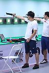 Tomoyuki Matsuda (JPN), <br /> AUGUST 21, 2018 - Shooting : <br /> Men's 10m Air Pistol <br /> at Jakabaring Sport Center Shooting Range <br /> during the 2018 Jakarta Palembang Asian Games <br /> in Palembang, Indonesia. <br /> (Photo by Yohei Osada/AFLO SPORT)