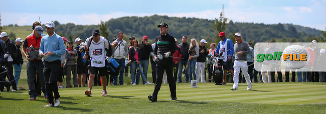 Jamie Donaldson (WAL) on the 5th tee during the Final Round of the D&D Real Czech Masters 2014 from the Albatross Golf Resort, Vysoky Ujezd, Prague. Picture:  David Lloyd / www.golffile.ie