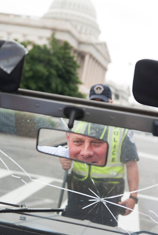 UNITED STATES - SEPTEMBER 15:  Sen. Richard Burr, R-N.C., drives his 1974 Volkswagen Thing around Capitol Hill.  (Photo By Tom Williams/Roll Call)