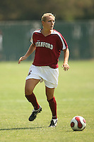 9 September 2007: April Wall during Stanford's 2-1 overtime win over #2 Notre Dame at Buck Shaw Stadium in Santa Clara, CA.