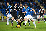 St Johnstone v Hamilton Accies&hellip;10.11.18&hellip;   McDiarmid Park    SPFL<br />David McMillan is blocked by Steven Boyd<br />Picture by Graeme Hart. <br />Copyright Perthshire Picture Agency<br />Tel: 01738 623350  Mobile: 07990 594431