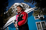 Squaw Valley CEO Nancy Cushing poses for a portrait in front of her home at Squaw Valley, California March 15, 2010..CREDIT: Max Whittaker for The Wall Street Journal.SQUAW