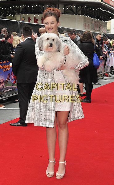 LONDON, ENGLAND - MAY 11: Ashleigh Butler &amp; Pudsey  attends the &quot;Postman Pat: The Movie&quot; world film premiere, Odeon West End cinema, Leicester Square, on Sunday May 11, 2014 in London, England, UK.<br /> CAP/CAN<br /> &copy;Can Nguyen/Capital Pictures