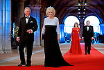 "PRINCE CHARLES AND CAMILLA, DUCHESS OF CORNWALL.attend the gala farewell dinner for Queen Beatrix.at the Rijksmuseum in Amsterdam, The Netherlands_April 29, 2013..Crown Prince Willem-Alexander and Crown Princess Maxima will be proclaimed King and Queen  of The Netherlands on the abdication of Queen Beatrix on 30th April 2013..Mandatory Credit Photos: ©Utrecht/NEWSPIX INTERNATIONAL..**ALL FEES PAYABLE TO: ""NEWSPIX INTERNATIONAL""**..PHOTO CREDIT MANDATORY!!: NEWSPIX INTERNATIONAL(Failure to credit will incur a surcharge of 100% of reproduction fees)..IMMEDIATE CONFIRMATION OF USAGE REQUIRED:.Newspix International, 31 Chinnery Hill, Bishop's Stortford, ENGLAND CM23 3PS.Tel:+441279 324672  ; Fax: +441279656877.Mobile:  0777568 1153.e-mail: info@newspixinternational.co.uk"