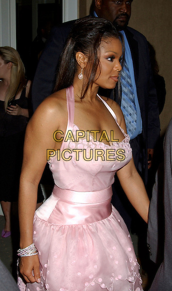 JANET JACKSON.2005 Clive Davis Annual Grammy Party Cocktail Reception held at the Beverly Hills Hotel, Beverly Hills, California, USA,.12th February 2005..half length pink halterneck dress.Ref: ADM.www.capitalpictures.com.sales@capitalpictures.com.©LFarr/AdMedia/Capital Pictures .