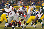 New York Giants running back Brandon Jacobs (27) carries the ball during an NFL divisional playoff football game against the Green Bay Packers on January 15, 2012 in Green Bay, Wisconsin. The Giants won 37-20. (AP Photo/David Stluka)