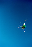 USA, Utah, male skier getting big air, Park City Ski Area