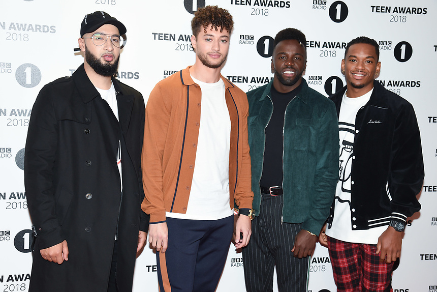 Rak-Su<br /> arriving for the Radio 1 Teen Awards 2018 at Wembley Stadium, London<br /> <br /> ©Ash Knotek  D3454  21/10/2018