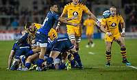 8th November 2019; AJ Bell Stadium, Salford, Lancashire, England; English Premiership Rugby, Sale Sharks versus Coventry Wasps; Embrose Papier of Sale Sharks the number 9 playmaker in the absence of Faf de Klerk - Editorial Use