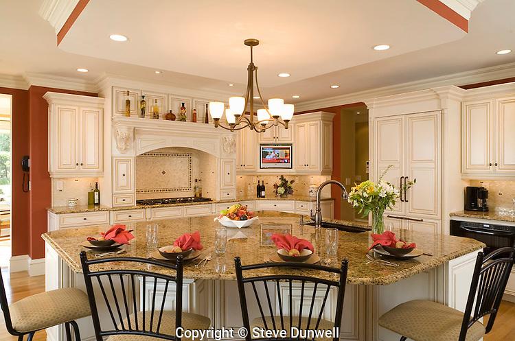 Kitchen in Gillis House, Topsfield, MA