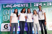 SAO PAULO, SP, 21.10.2014 - FESTA DE LANCAMENTO 21ª SUPERLIGA DE VOLEI 2014/2015.Jogadoras da equipe Molico/Nestle  durante festa de lançamento da 21ª superliga de volei. Esperada como uma das temporadas mais equilibradas dos últimos anos, a Superliga masculina e feminina de vôlei 2014/2015 terá início no dia 25 de outubro. A  festa de lançamento aconteceu na manhã de  terça-feira (21.10), , no Hotel Pestana, na zona sul da capital paulista. (Foto: Adriana Spaca / Brazil Photo Press)