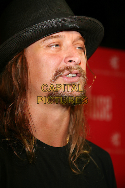 KID ROCK .Grand Opening of Fuse nightclub, the new hot spot located in the Opryland Hotel, Nashville, Tennessee, USA,.13 July, 2008..portrait headshot black hat beard .CAP/ADM/RR.©Randi Radclif/Admedia/Capital Pictures