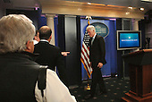 Former United States President William Clinton leaves the podium after meeting reporters in the White House Press Room in Washington, DC Friday 10 December 2010. Clinton endorsed the tax compromise Obama made with Republican congressional leaders..Credit: Bill Auth / Pool via CNP