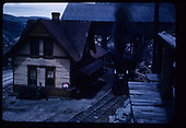 RGS #20 at Ophir depot with southbound RMRRC excursion train, as viewed from Skillen's Saloon.<br /> RGS  Ophir, CO  Taken by Maxwell, John W. - 5/30/1947