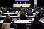 Visitors attend conference 'Platform of Science-based Ocean Solutions' on the second day of the UNFCCC COP25 climate conference on December 2, 2019 in Madrid, Spain. The conference brings together world leaders, climate activists, NGOs, indigenous people and others together for two weeks in an effort to focus global policy makers on concrete steps for heading off a further rise in global temperatures.(ALTERPHOTOS/Manu R.B.)