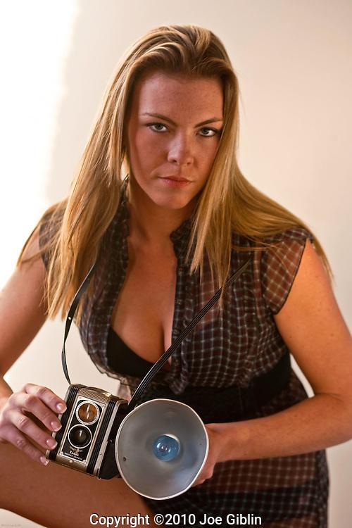 Model Jennifer Hilton shot in studio on 12/07/2010 (Photo/Joe Giblin) Model Release on File