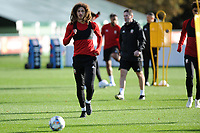 Ethan Ampadu of Wales in action during the Wales Training Session at The Vale Resort in Cardiff, Wales, UK. Monday 12 November 2018