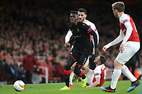Ismaila Sarr of Rennes races upfield during Arsenal vs Rennes, UEFA Europa League Football at the Emirates Stadium on 14th March 2019