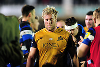 Jordan Crane of Bristol Rugby leaves the field dejected. Aviva Premiership match, between Bath Rugby and Bristol Rugby on November 18, 2016 at the Recreation Ground in Bath, England. Photo by: Patrick Khachfe / Onside Images