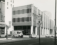 1962 May..Redevelopment..Downtown South (R-9)..Kirn Memorial Library.Southeast view looking Northwest fromcorner of Plume Street & Bank Street...NEG#.975..