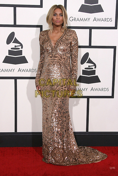 LOS ANGELES, CA - JANUARY 26 - Ciara. 56th GRAMMY Awards held at the Staples Center. <br /> CAP/ADM<br /> &copy;AdMedia/Capital Pictures