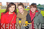 Pictured at the Dr Crokes match in Portlaoise on Saturday, from left: Elaine Kerins, Denise O'Sullivan and Ciara Guerin.